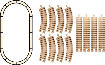 MapleLandmark Track Set - Oval  American Made