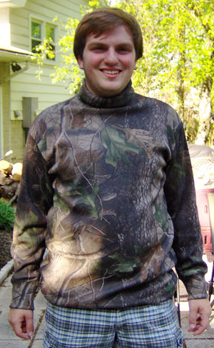 Big & Tall American Made Camo Turtleneck