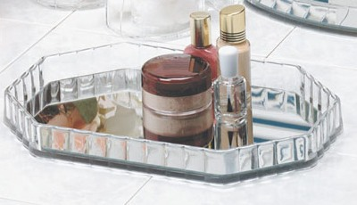 Octagon Vanity Mirror Tray American Made