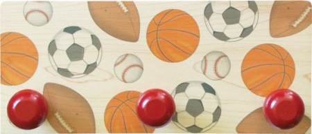 Maple Landmark Sports Wall Rack Made in USA