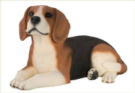 Beagle Urn / Sculpture  American made