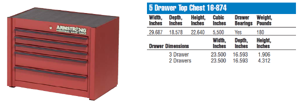 Armstrong 5 Drawer Top Chest