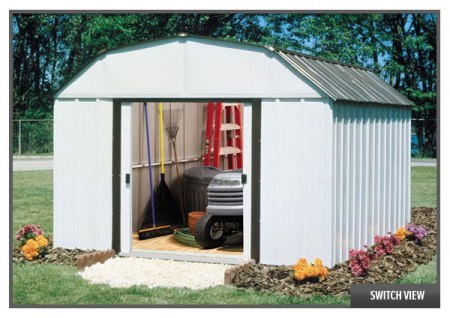 Galvanized Steel Finish American Made Shed - Concord
