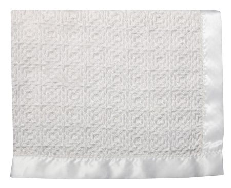 Diamond Weave Cotton Baby Blanket Made in USA