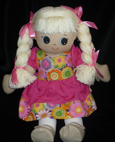 Vianca Rag Doll with Choice of Dress -Made in USA