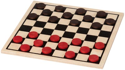 Maple Landmark Checkers - Basic Checkers Set - Made in USA