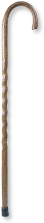 Brazos Twisted Oak Crook Neck Walking Cane Made in America