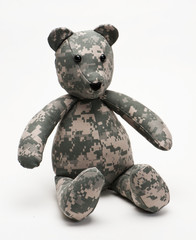 Cuddly Military Teddy Bear Made in USA