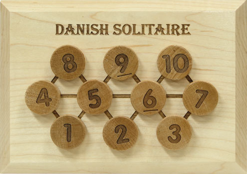 Maple Landmark Danish Solitaire - Mental Aerobics Puzzle Made in America