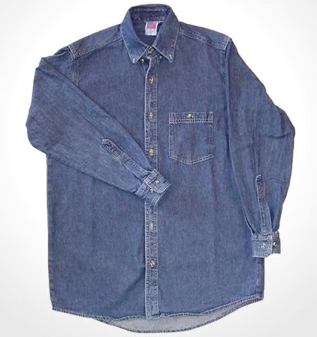 Long Sleeve Denim Shirt Made in USA