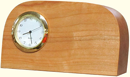 Cherry Desk Clocks - Sm Cherry - Plain
