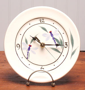 American Made Ceramic Clock - Dragonfly