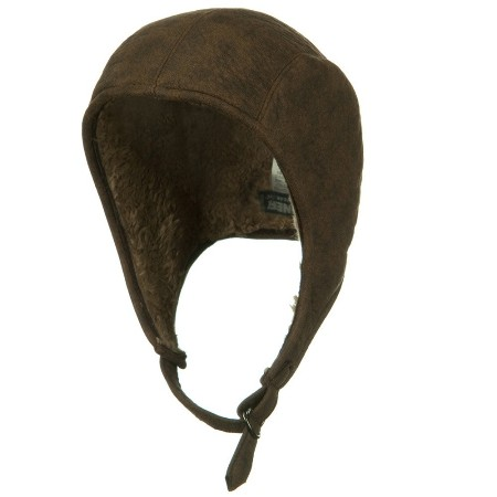 Distressed Leather Snoopy American Made Hat