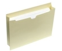 "Carton of 250 Letter Size Top Tab File Jackets  1-1/2"" Expansion"