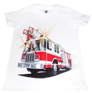 Kids Fire Truck T-Shirt Made in USA