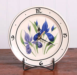 American Made Ceramic Clock - Iris