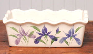 Large Ceramic Iris Loaf Pan American Made