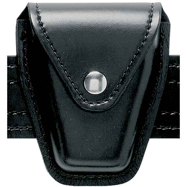Safariland 190 Handcuff Pouch, Black, Plain, Brass Snap