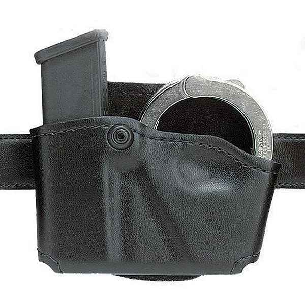 Safariland 573 Mag Pouch, Single, w/Cuff Pouch, RH, STX, Black, S&W M&P