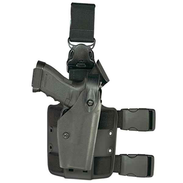 Safariland 6005 Tactical Holster, RH, Black, Ber. 92F w/SF Light