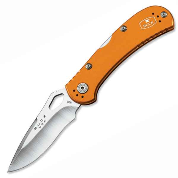 Buck Spitfire, Orange Aluminum, Plain