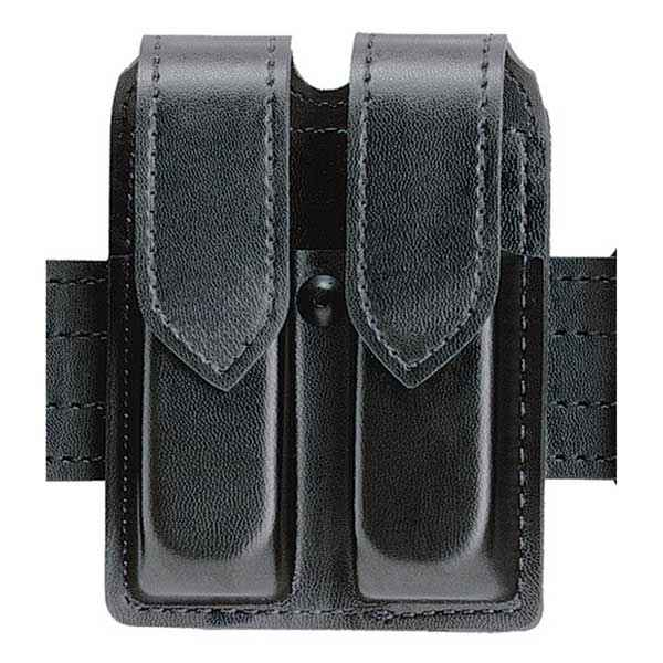 Safariland 77 Magazine Pouch, Plain, Black, Hidden Snap, Glock 20/21
