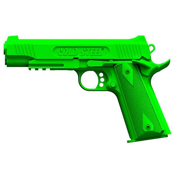 Cold Steel 1911 Rubber Training Pistol, Green Polypropylene
