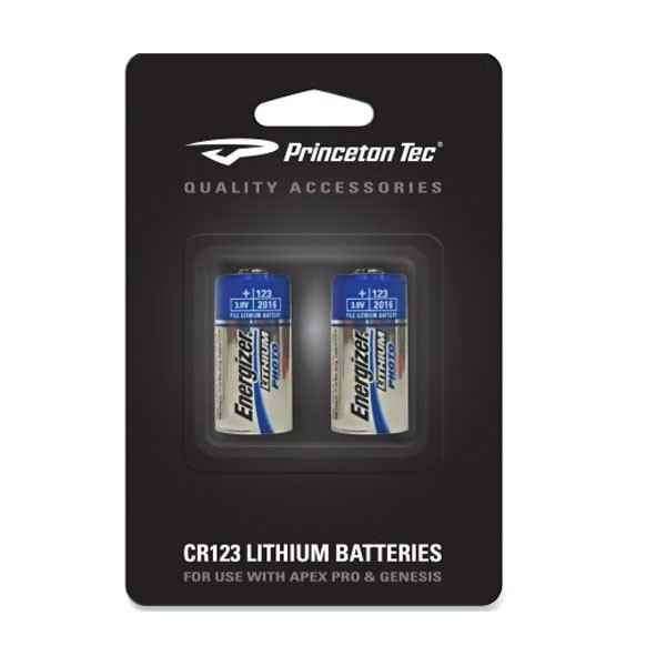 Princeton Tec Lithium Cr123 Batteries, 2 Pack