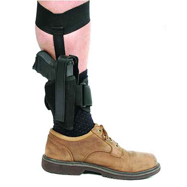 Blackhawk Ankle Holster Sz 1 Blk RH, 3-4 in. Bar Md Auto,.32-.380 Cal