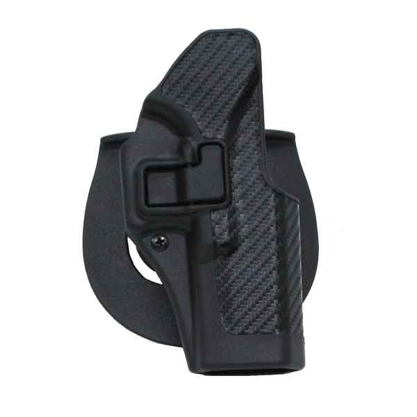 Blackhawk Serpa Concealment Holster, RH, Black CF Finish, 1911 Gov't