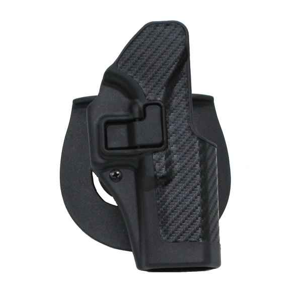 Blackhawk CF Holster w/BL & Paddle, Serpa, RH, Black, Spring. XD