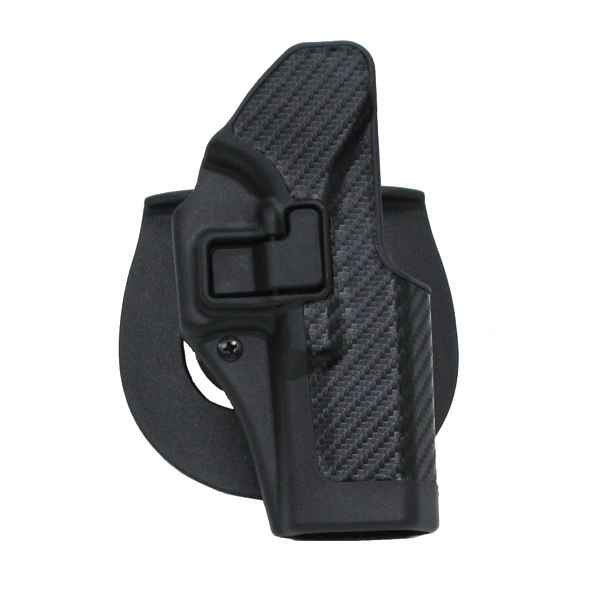 Blackhawk CF Holster w/BL & Paddle, Serpa, RH,  Black, Glock 20/21