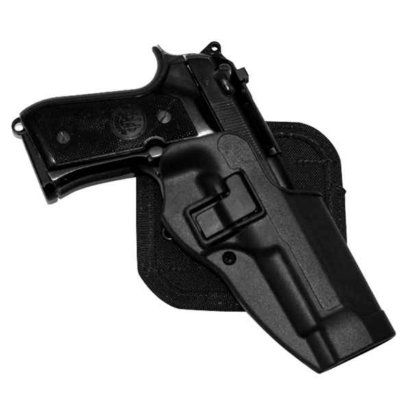 Blackhawk CF Holster w/BL & Paddle, Serpa, RH, Black, Sig 220