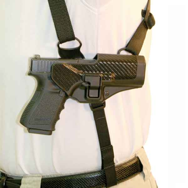 Blackhawk Serpa Shoulder Harness Holster Platform, RH, Black, Medium