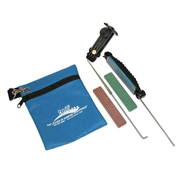 DMT Deluxe Aligner Kit, 3 Diamond Whetstone/1 Serrated Sharpener