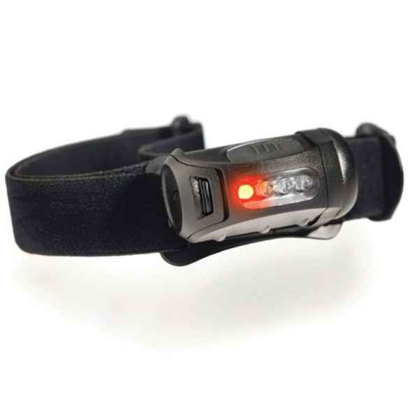 Princeton Tec Fred Headlamp, Black, 45 lm, w/Red LED