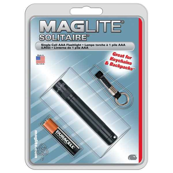 MagLite Solitaire Blister Pack, Black