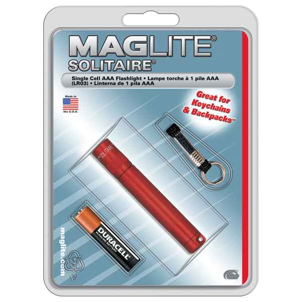 MagLite Solitaire Blister Pack, Red