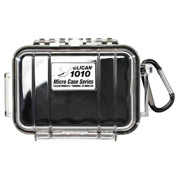 Pelican Products Micro Case Clear, Black, 5.44 x 4.06 x 2.13