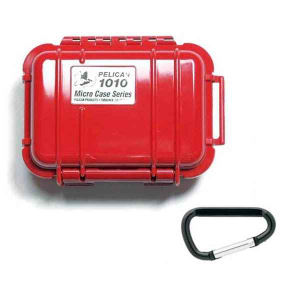 Pelican Products Micro Case Solid, Red, 5.44 x 4.06 x 2.13