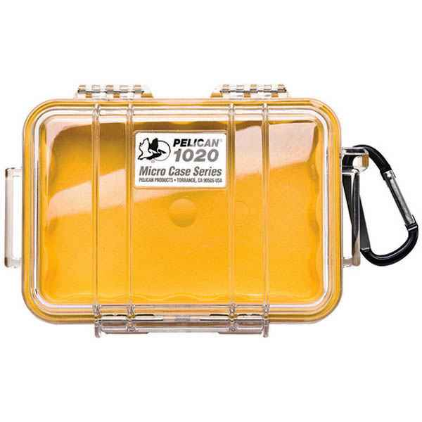 Pelican Products Micro Case Clear, Yellow, 6.38 x 4.75 x 2.13