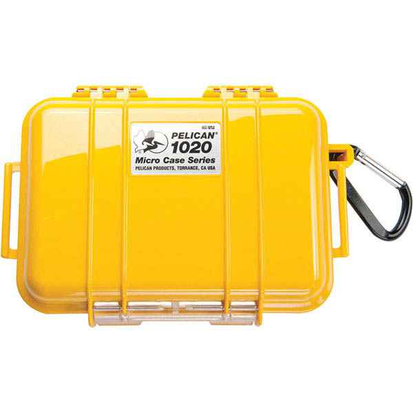 Pelican Products Micro Case Solid, Yellow, 6.38 x 4.75 x 2.13