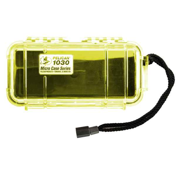 Pelican Products Micro Case Clear, Yellow, 7.5 x 3.88 x 2.44