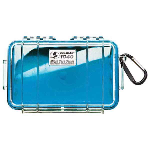 Pelican Products Micro Case Clear, Blue, 7.5 x 5.06 x 2.13