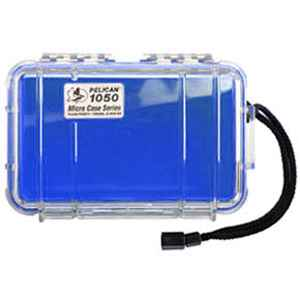 Pelican Products Micro Case Clear, Blue, 7.5 x 5.06 x 3.13