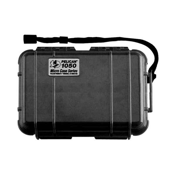 Pelican Products Micro Case Solid, Black, 7.5 x 5.06 x 3.13
