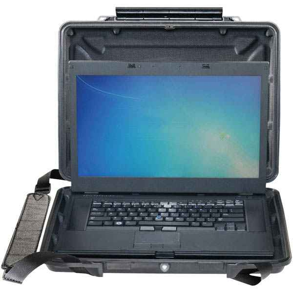 Pelican Products 1095CC Hard Back Case, Black, w Computer Lining