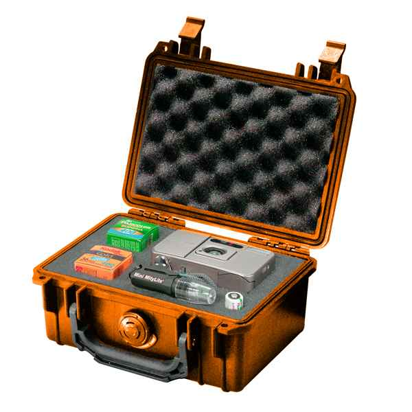 Pelican Products 1120 Case, Orange, with Foam