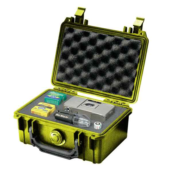 Pelican Products 1120 Case, Yellow, with Foam
