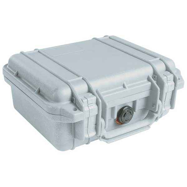 Pelican Products 1200 Case, Silver, No Foam